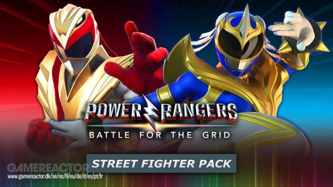 Power Rangers: Battle for the Grid - Super Edition viene con personajes de Street Fighter