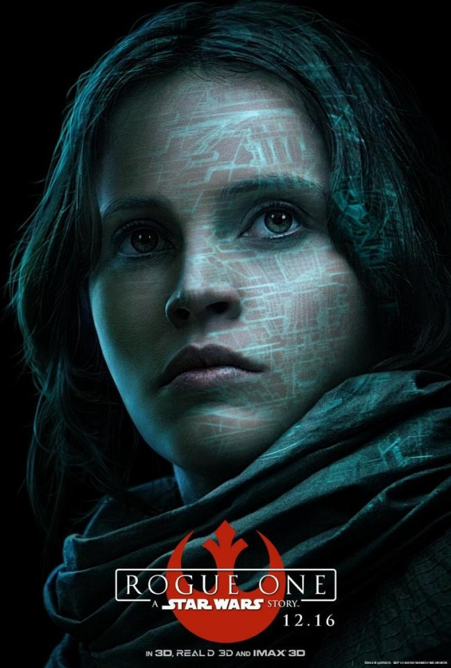 Los posters de Star Wars: Rogue One realzan a sus personajes