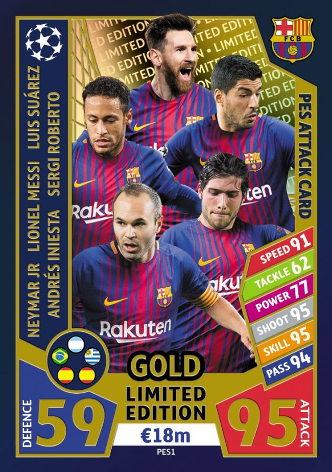 PES 2018 regala cromos exclusivos Match Attax Champions League