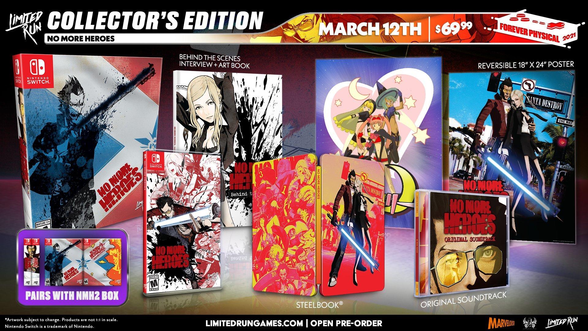 No More Heroes 1 y 2 en formato físico y coleccionista para Switch