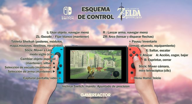 Estos son los controles de Zelda: Breath of the Wild en Switch