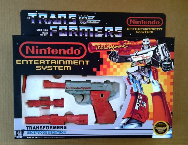 La gran idea fan: Megatron convertible en una Zapper de NES