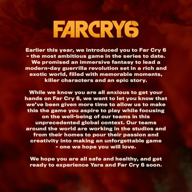 Far Cry 6 y Rainbow Six: Quarantine, retrasados indefinidamente