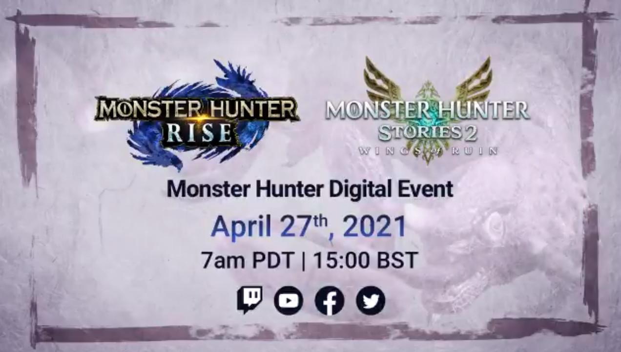 ¡Cazadores! Monster Hunter Digital Event el 27 de abril