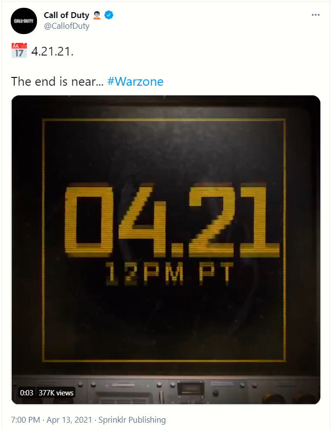 'Baneo' y evento masivos en Call of Duty: Warzone