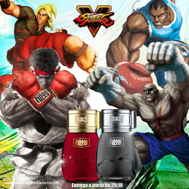 Huele a Street Fighter con los perfumes Everlast