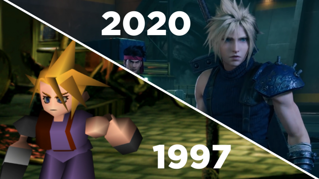 Final Fantasy 7 1997 vs 2020 cara a cara