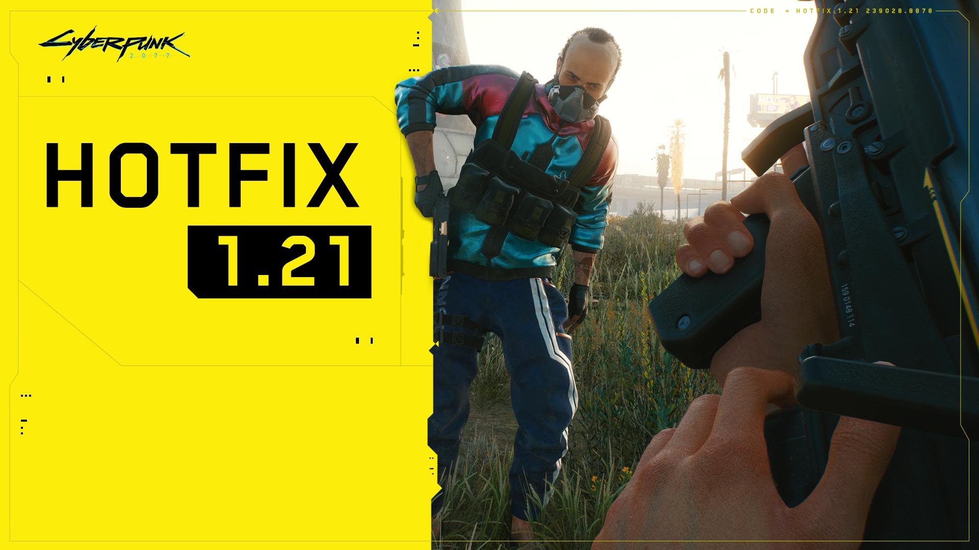 Más cambios y arreglos para Cyberpunk 2077 con el parche 1.21