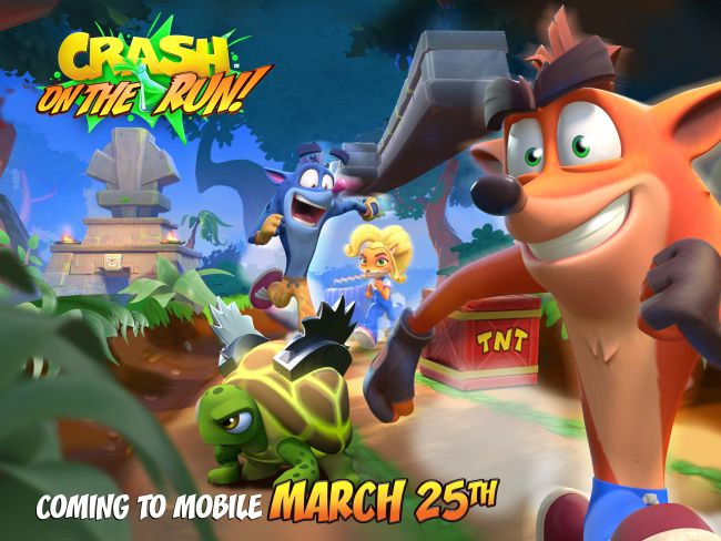 Crash Bandicoot On the Run! echa a correr el 25 de marzo