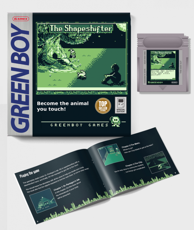 Nace un RPG para Game Boy en cartucho, The Shapeshifter