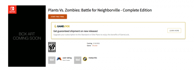 Rumor: La Batalla de Neighborville de Plants vs. Zombies en Switch es invernal