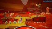 Yoshi's Crafted World - Gameplay de Con Poochy en el mar ígneo