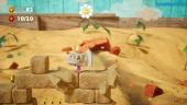 Yoshi's Crafted World - Gameplay de ¡Que no quede bloque entero!