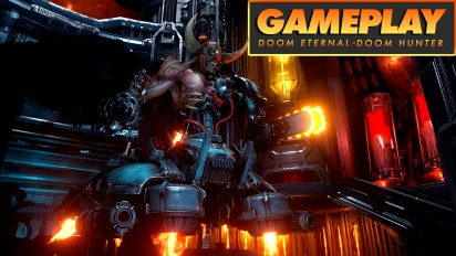Doom Eternal - Gameplay contra el jefe Doom Hunter