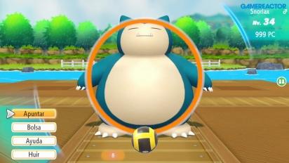 Pokémon: Let's Go Pikachu - Gameplay español Snorlax y Batalla de Captura Doble