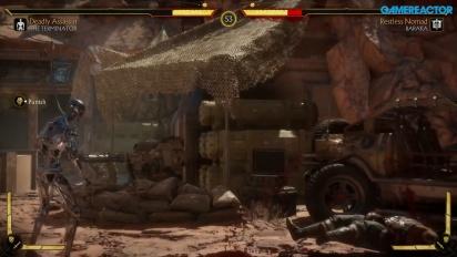 Mortal Kombat 11 - Gameplay de Terminator T-800 con Endoesqueleto