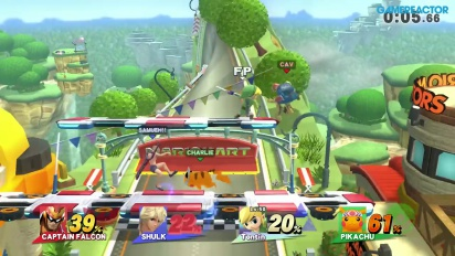 Super Smash Bros. for Wii U - Gameplay Todos contra Todos vs Amiibo de nivel 50