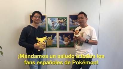 Pokémon: Let's Go, Pikachu! y Let's Go, Eevee!  - Mensaje de Junichi Masuda y Kensaku Nabana