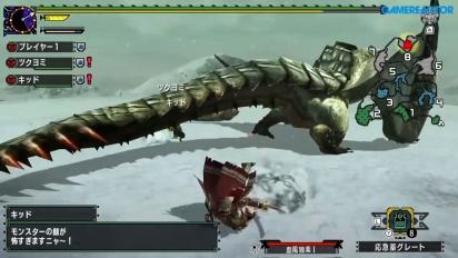 Monster Hunter XX - Gameplay del Barioth en Nintendo Switch