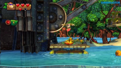 Donkey Kong Country: Tropical Freeze para Nintendo Switch - Gameplay mundo 1-1 con Funky Kong