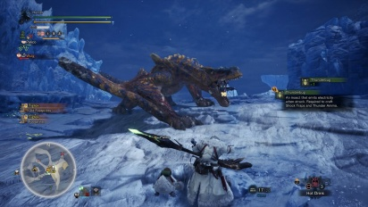 Monster Hunter: World - Iceborne - Gameplay cazando un Tigrex
