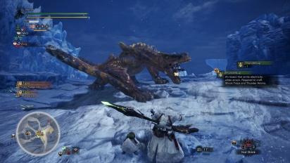 Monster Hunter: World - Iceborne - Gameplay cazando un Tigrex