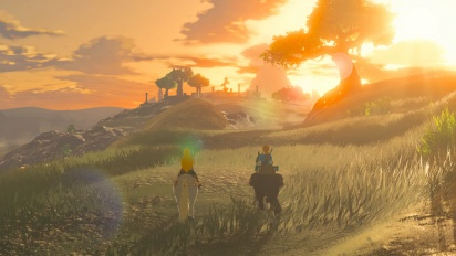 The Legend of Zelda: Breath of the Wild - Montaje para la web japonesa 'Guard'