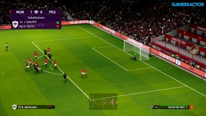 eFootball PES 2020 - Gameplay partido completo Manchester United vs PES Legends
