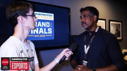 Overwatch League Finals - Chacko Sonny Interview