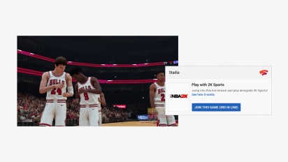 Stadia - Demostración de Click to Play con NBA 2K19