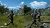 Final Fantasy XV - Vídeo comparativa PC vs PS4