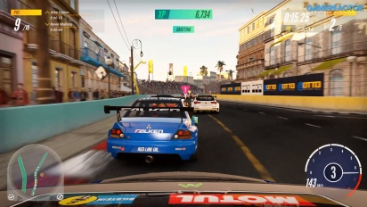 Project Cars 3 - Gameplay del Honda Civic Type R Racing en Havana Malecon Loop