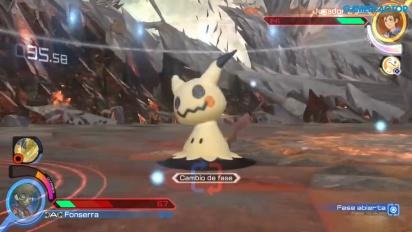 Pokkén Tournament DX - Gameplay de Aegislash vs Pikachu