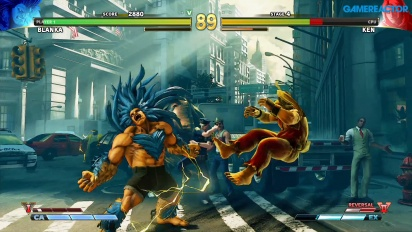 Street Fighter V - Gameplay modo Arcade Blanka vs Ken
