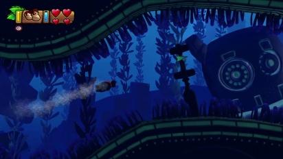 Donkey Kong Country: Tropical Freeze - tráiler de acción acuática