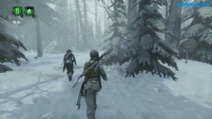Rise of the Tomb Raider - Gameplay PS4 modo cooperativo Aguante