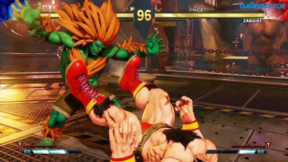 Street Fighter V - Gameplay modo Arcade Blanka vs Zangief