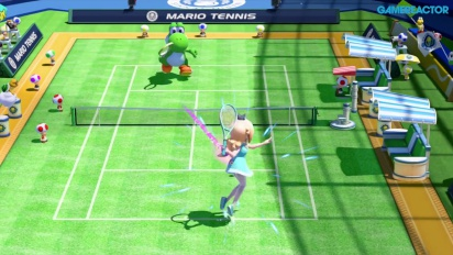 Mario Tennis: Ultra Smash - Gameplay de Megapartido - Estela vs Yoshi