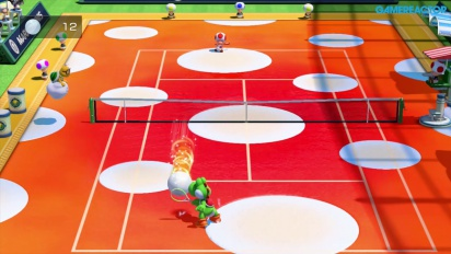 Mario Tennis: Ultra Smash - Gameplay de Megapeloteo - Yoshi vs Toad