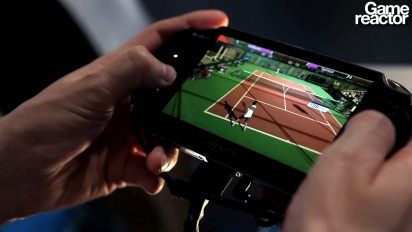 TGS 11: Virtua Tennis 4: World Tour Vita gameplay
