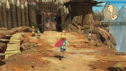 Ni no Kuni II: El Renacer de un Reino - Gameplay en la madriguera de los Wyverns