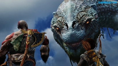 God of War - Gameplay: Charla con la Serpiente del Mundo (Spoilers)