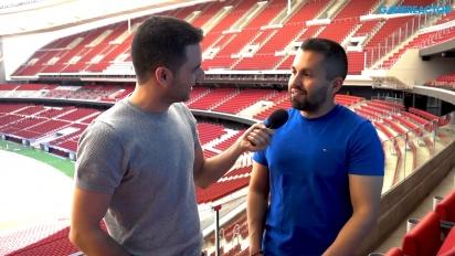 FIFA 19 - Entrevista a Sam Rivera en el Wanda Metropolitano