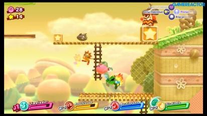 Kirby Star Allies - Gameplay de Altiplano Amistoso en Nintendo Switch