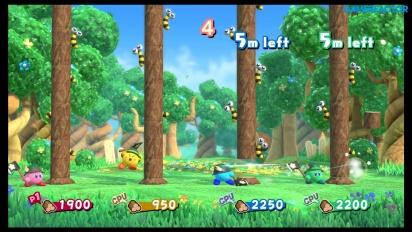 Kirby Star Allies - Gameplay del minijuego Duelo de hachas en Nintendo Switch
