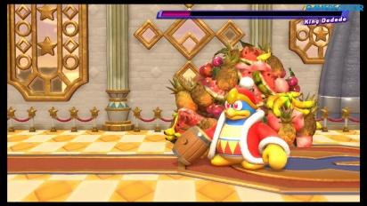 Kirby Star Allies - Gameplay de Batalla contra jefe King Dedede en Nintendo Switch