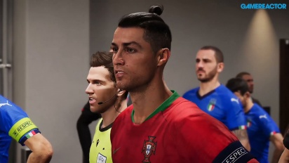 eFootball PES - Gameplay EURO 2020 Portugal vs Italia (Partido completo)