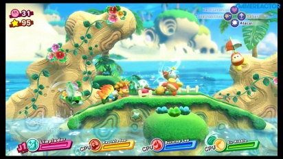Kirby Star Allies - Gameplay de Marcha Marítima en Nintendo Switch