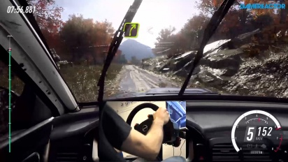 Dirt Rally 2.0 - Gameplay con volante y pedales en barro