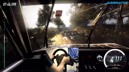 Dirt Rally 2.0 - Gameplay con volante y pedales en grava